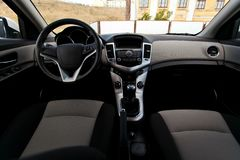 Car interior from the inside. Close up stock image