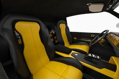 Car interior inside Royalty Free Stock Image