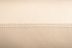 Car interior leather texture. Royalty Free Stock Photos