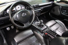 Car interior. With leather trim Royalty Free Stock Images
