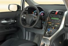Car interior. Interior of the modern hybrid car Stock Images