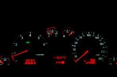 Car Dashboard interior. Car Dashbroad/interior, at night Royalty Free Stock Image