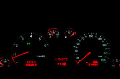 Car Dashboard interior royalty free stock image