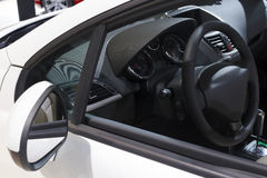 Car interior and open window Stock Photography