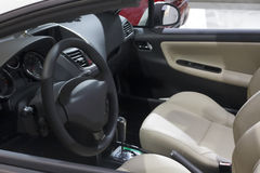 Car interior and open windows Royalty Free Stock Photos