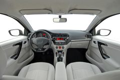 Car interior. Studio shot modern car interior Royalty Free Stock Photo