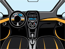Car Interior vector Royalty Free Stock Image