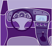 Car Interior Vector Royalty Free Stock Photos