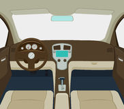 Car interior vector illustration stock images