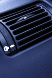 Car Interior - A Vent in Blue Stock Photography