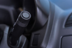 Car interior wipers control stalk Stock Photo