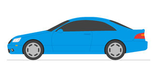 Car isolated  illustration. Automobile in white background Stock Images