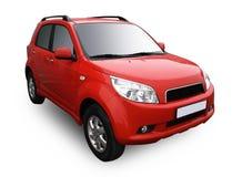car isolated modern red white στοκ εικόνες
