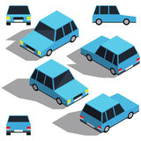 Car isometry. Low detailing isometric view of the cars Royalty Free Stock Photography