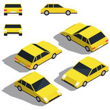 Car isometry. Low detailing isometric view of the cars Royalty Free Stock Images