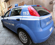 Car of the Italian Police Royalty Free Stock Photo