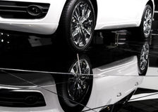 Car and its reflection Royalty Free Stock Photos