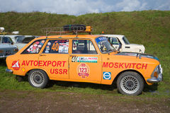 Car IZH-2125 `Kombi` IZH -Kombi - participant of the festival of petrotransport `Fortune-2016` in Kronstadt. Side view Stock Photography