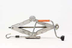 Car Jack. Over the white background stock images