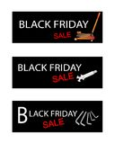 Car Jack and Repair Tools Kits on Black Friday Banners Stock Image