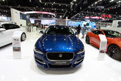 Car. Jaguar car in Motor Expo 2015 in Baangkok, Thailand stock image