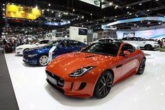 Car. Jaguar car in Motor Expo 2015 at Bangkok, Thailand stock images