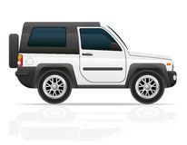 Car jeep off road suv vector illustration Stock Photography