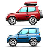 Car jeep on a white Royalty Free Stock Images