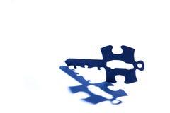 Car jigsaw puzzle key Royalty Free Stock Photography