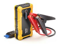 Car jump starter set and power bank Royalty Free Stock Images