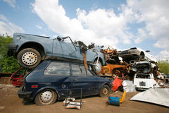 Car junkyard Royalty Free Stock Photos