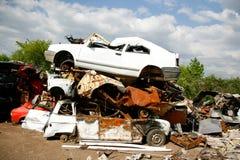 Car junkyard Stock Photo