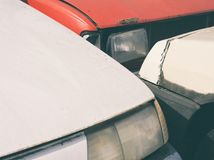 Car Junkyard Closeup Royalty Free Stock Image