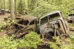 Car Junkyard in Sweden. Royalty Free Stock Photo
