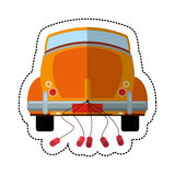 car just married transport Royalty Free Stock Images