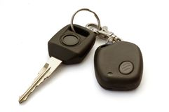 Car key. With remote control Stock Photos
