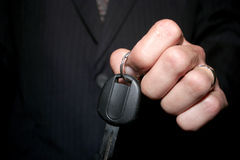 Car Key. A hand with a car key Stock Images