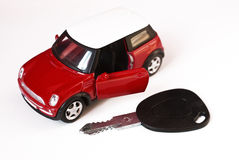 Car and key Royalty Free Stock Images