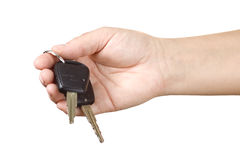 Car key. Woman giver you car key Stock Image