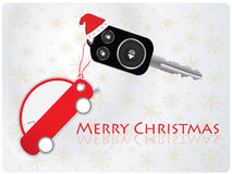 Car key. With remote - Christmas gift Royalty Free Stock Photos