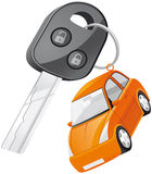 Car key. Vector illustration Car key with remote control Royalty Free Stock Photography