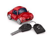 Car and key Stock Images