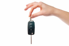 Car Key. Female Hand with a Car Key Stock Images