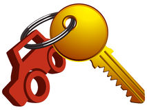 Car and key Royalty Free Stock Photo