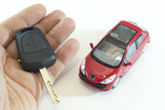 Car and key Royalty Free Stock Photos