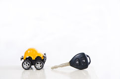 Car and key Stock Photo