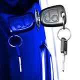 Car Key. Key at car doors - close up Stock Image