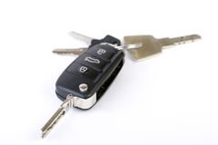 Car Key. Audi Car Key with key ring and other keys Stock Photography