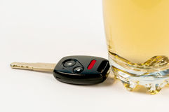 Car Key and Beer Royalty Free Stock Photo