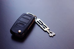 Car key for BMW model E34. Electronic car key for luxury BMW E34 saloon car with lock and unlock function by means of remote radio transmitter Royalty Free Stock Photo